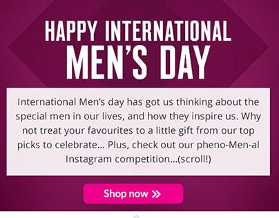 Superdrug Email Marketing - International Men's Day