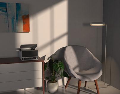 Muji Inspired Floor Lamp