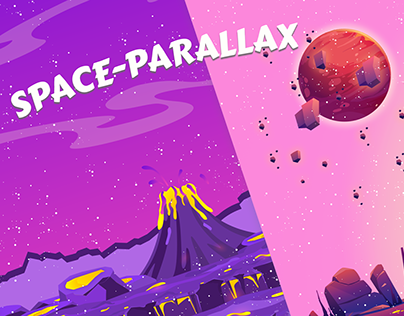 SCI-FI Portrait parallax - Space Scrolling backgrounds