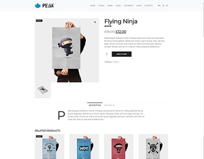 Product Page - Peak WordPress Theme