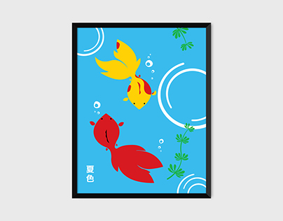 Kingyo Pop Art Print