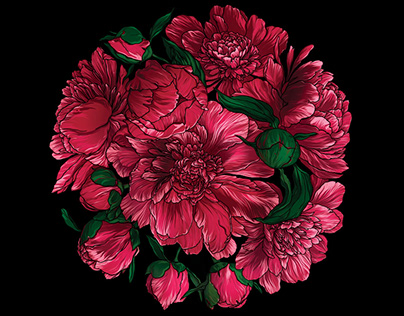Peonies wallart, Save your own authenticity.