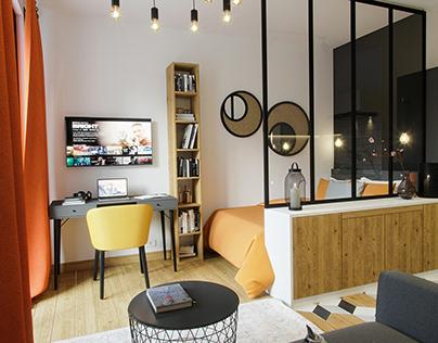 Proposed Design for Studio Apartment