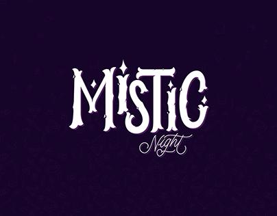 Mistic logo lettering