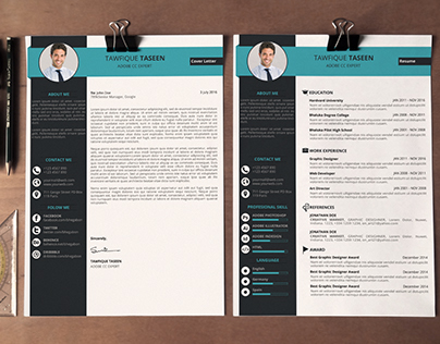 Clean resume + Cover Letter