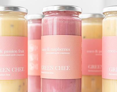 Vegan yogurtdesignbottle packaging identity branding