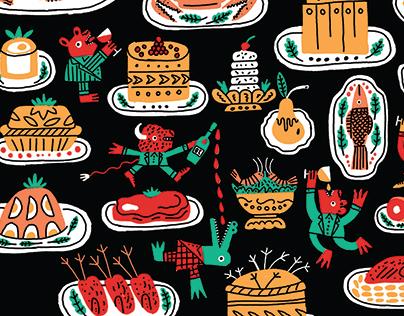 Restaurant Joe Beef / illustration for a t-shirt