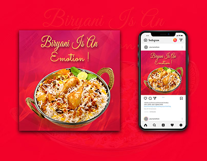 Restaurant social media flyer Design With Free Mockup