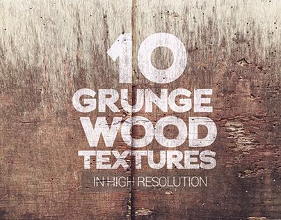 Grunge Wood Textures x10