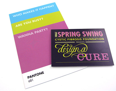 Spring Swing Design-a-Cure Invitation