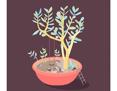 """Авторські ілюстрації """"Рослина як середовище"""""""