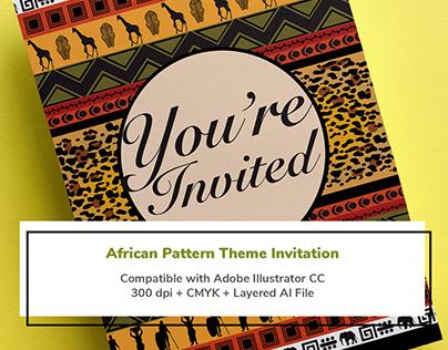 African Pattern Theme Invitation