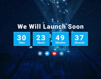 Websitee Coming Soon Page Design With Elementor Pro