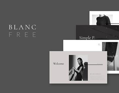 Blanc Free Presentation Template