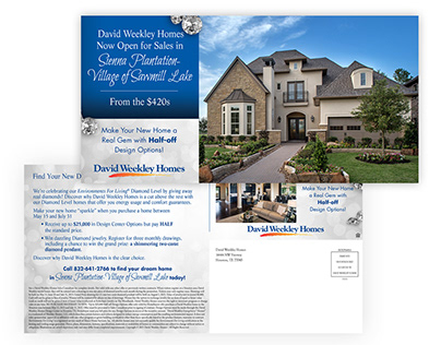 David Weekly Homes Diamond Discovery Promotion