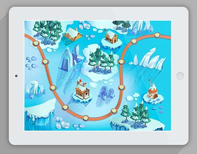 Level Map Illustration