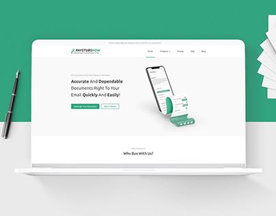 Paystubsnow - Website Design