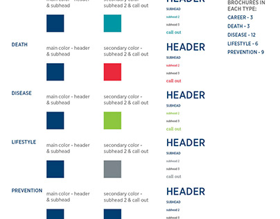 Client brochure redesign concept