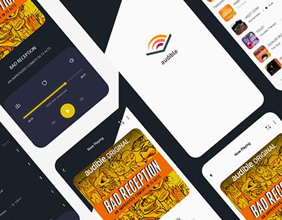 audible app redesign screens