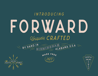 FORWARD - FREE VINTAGE FONT | 3 STYLES