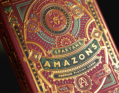Amazons Spartans Playing Cards manufactured by USPCC.