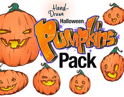 Hand-drawn Pumpkins Illustration Pack