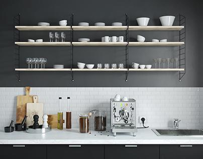 download 3d: kitchenset coffee theme