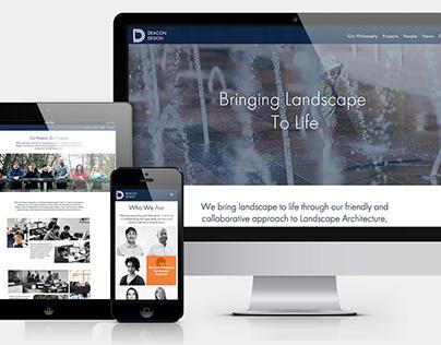 Website design for landscape architects Deacon Design
