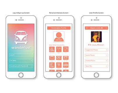 Application Design | Wanderlust Travel App