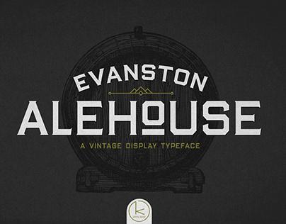 Evanston Alehouse Typeface
