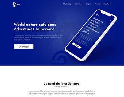 BD App Landing page Design