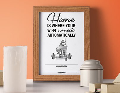 FREE CONTENT - Free WI-FI Poster Design