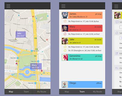 Team Tracker App - Mockup