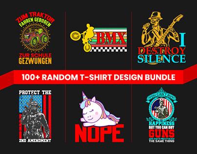 BEST Selling 100+ Random Niche Tshirt Design Bundle