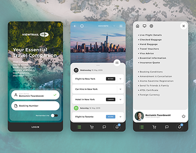ViewTrail - Travel App - Redesign