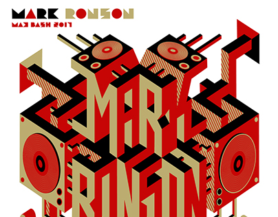 Mark Ronson Augmented Reality poster for Adobe MAX 2017
