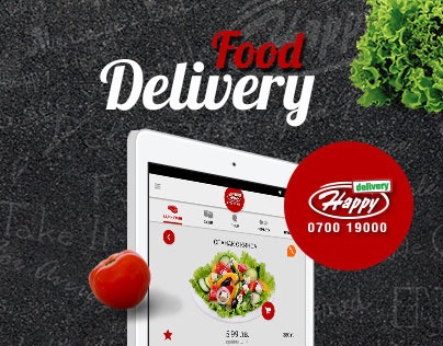 Happy Delivery - web site and application design