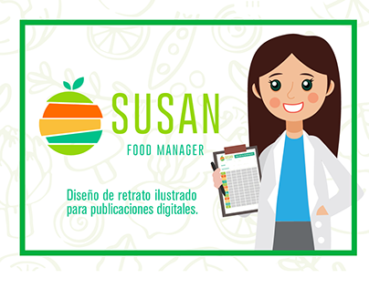 Diseño de retrato para Susan Food Manager