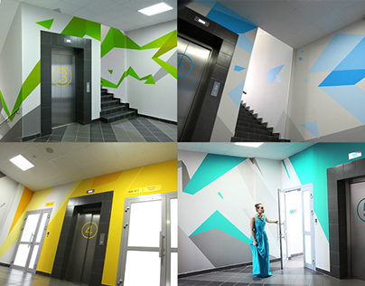 Design concept of wall graphics.