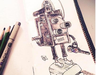 """Sketch """"El cine"""""""