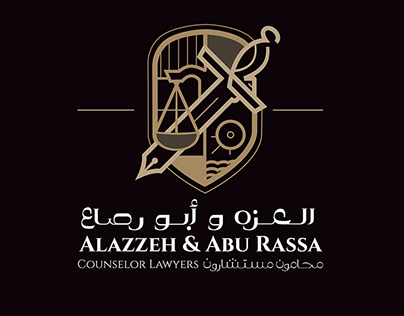 Branding | Alazzeh & Abu Rassa Counselor Lawyers logo &
