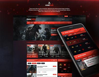 GameAddict - Wordpress Theme