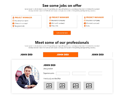 Professionals Recruitment Company Mockup Design