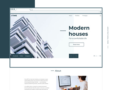 Modern houses — landing page