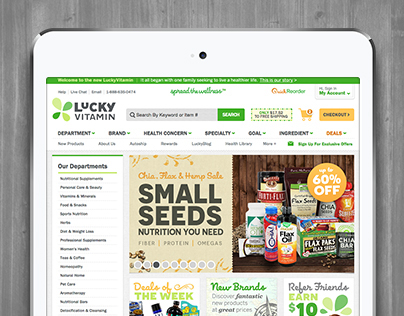 LuckyVitamin e-commerce redesign - phase 2