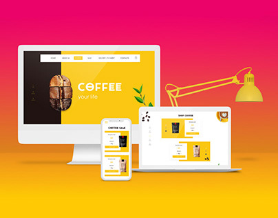 Web design for the company selling coffee