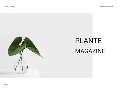Plante Magazine - Website