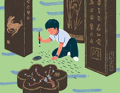 《墨童》书籍插画