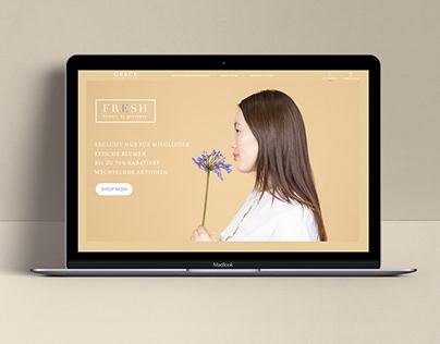 FRESH flowers website showcase