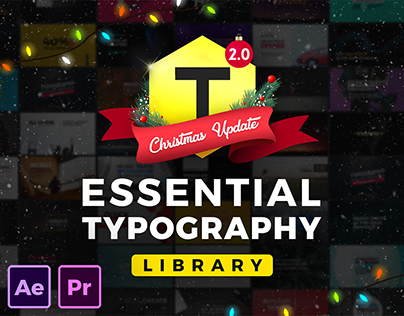 Essential Typography Library |After Effects and Premier